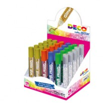 Display colla glitter 30 penne 10,5ml colori assortiti metal Cwr 05887