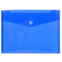 Busta a tasca con velcro in pp blu trasparente f.to 24x32cm per A4 Exacompta 56422E - Conf da 5 pz.
