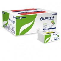 Pacco da 220 asciugamani piegati a Z goffrato corda Eco Z Lucart 864014 - Conf da 18 pz.
