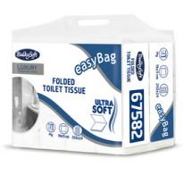 Pacco 250 strappi Carta Igienica interfogliata EasyBag BulkySoft 67582 - Conf da 24 pz.
