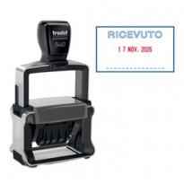 Timbro Professional 4.0 5460/PR4/L1 DATARIO + RICEVUTO autoinchiostrante TRODAT 120416