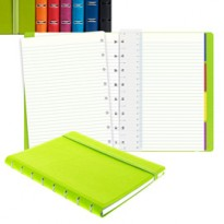 Notebook f.to A5 a righe 56 pag. arancio similpelle Filofax L115010