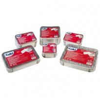 Pack 50 Contenitori alluminio 2 Porzioni + coperchio Cuki 152706397