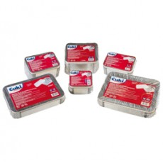 Pack 50 Contenitori alluminio 3 Porzioni + coperchio Cuki 152705897