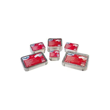 Pack 50 Contenitori alluminio 3 Porzioni + coperchio Cuki 162-R58L+COP