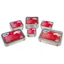 Pack 25 Contenitori alluminio 6 Porzioni + coperchio Cuki 152708697