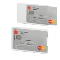 Tasca porta carte di credito argento trasp. 54x87mm RFID Secure Durable 8903-9 - Conf da 3 pz.