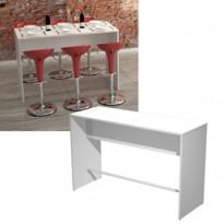 Tavolo alto 160x70xH105cm Bianco Ristoro 15092-3