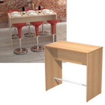 Tavolo alto 160x70xH105cm Faggio Ristoro 15092-6