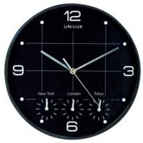 Orologio da parete 30,5cm con 4 fusi On Time Unilux 400094567