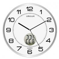 Orologio da parete 30,5cm con termometro Tempus Unilux 400094592
