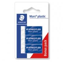 Blister 3 gomme Marsplastic mini 526 53 bianca STAEDTLER 52653 ABK3D