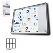Bacheca interni Magnetica 6XA4 ante scorrevoli Jansen SCSL6xA4