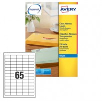 Etichetta adesiva J8651 bianca 25fg A4 38,1X21,2mm (65et/fg) inkjet Avery J8651-25