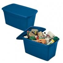 Contenitore multiuso ToteBox 82,4x50,5x44cm Blu Terry 1002784