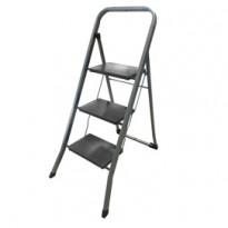 Scala sgabello a 3 gradini in acciaio verniciato grigio DalI 21390