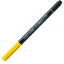 Pennarello a 2 punte AQUA BRUSH DUO giallo limone LYRA L6520007 - Conf da 10 pz.