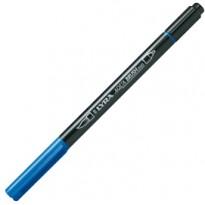 Pennarello a 2 punte AQUA BRUSH DUO blu cobalto chiaro LYRA L6520044 - Conf da 10 pz.
