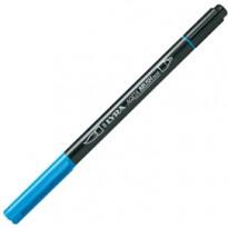 Pennarello a 2 punte AQUA BRUSH DUO azzurro LYRA L6520047 - Conf da 10 pz.