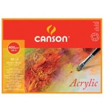Blocco collato 4 lati CANSON ACRYLIC 24x32 cm 10 fg. 400 gr. Canson 200807408