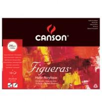 Blocco collato lato corto FIGUERAS 24x33 cm - 4F 10 fg. 290 gr. Canson 200857221 - Conf da 5 pz.