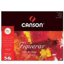 Blocco collato lato corto FIGUERAS 33x41 cm - 6F 10 fg. 290 gr. Canson 200857222 - Conf da 5 pz.