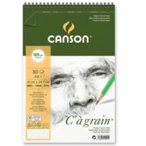 Album spiralato lato corto  GRAIN A4+ 30 fg. 125 gr. Canson 400060603 - Conf da 10 pz.