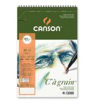 Album spiralato lato corto  GRAIN A4+ 30 fg. 180 gr. Canson 400060604 - Conf da 10 pz.