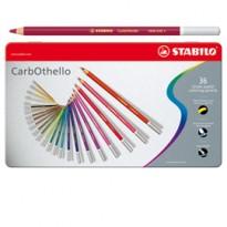 Astuccio metallo 36 CarbOthello colori assortiti Stabilo 1436-6