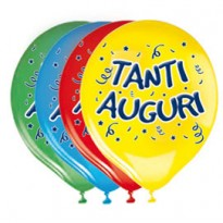 Busta 20 palloncini in lattice 30cm Tanti Auguri Big Party 72221