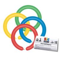 Busta 25 palloncini modellabili in lattice 5cm Colori Assortiti Big Party 72038
