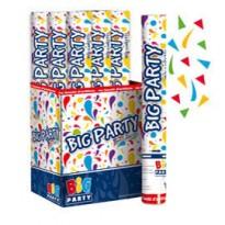 Sparacoriandoli Cannon colori assortiti gittata 8mt Big Party 50002 - Conf da 12 pz.