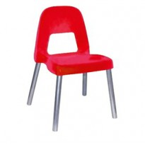 Sedia per bambini Piuma H35cm rosso CWR 09387/01