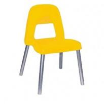 Sedia per bambini Piuma H35cm giallo CWR 09387/02