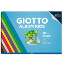 Album Kids Carta colorata 2+ f.to A4 120gr 20fg Giotto 580700 - Conf da 5 pz.