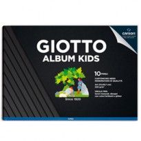 Album Kids cartoncino nero 5+ f.to A4 220gr 10fg Giotto 580600 - Conf da 5 pz.