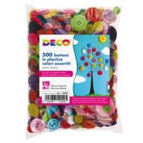 Confezione 650 bottoni in plastica colori assortiti CWR 12029