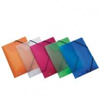 Cartella 3L C/elastico colori ass. LUMINA 24x32 D 2,5cm Favorit 400066839 - Conf da 20 pz.