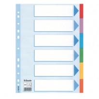Intercalare cartoncino 6 tasti colorati - f.to A4 Esselte 100192