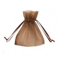 20 Sacchetti organza Milly 12,5x17cm cioccolato UL550DLL03VCC