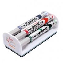 Set 4 marcatori Maxiflo MWL5S 4mm assort. + cancellino Pentel MWL5S-4N