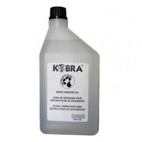 Olio per distruggidocumenti - flacone 1lt - Kobra 51.086 - Conf da 24 pz.