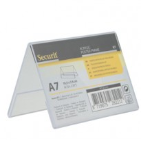 Display a V 7,8x10,6x6,7cm (A7) Securit PFT-ACV-A7