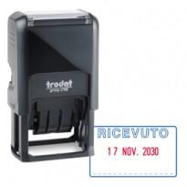 Timbro Printy 4750/1 4.0 41x24mm DATARIO+RICEVUTO autoinch. TRODAT 141383