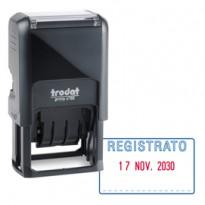 Timbro Printy 4750/1 4.0 41x24mm DATARIO+REGISTRATO autoinch. TRODAT 141075