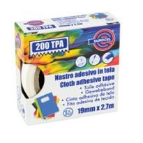 Nastro adesivo telato TPA rosso 200 19mmx2,7mt Eurocel 016214194