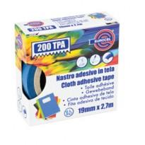 Nastro adesivo telato TPA blu 200 19mmx2,7mt Eurocel 016614194