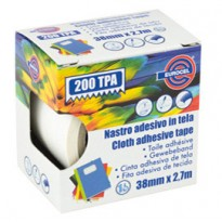 Nastro adesivo telato TPA bianco 200 38mmx2,7mt Eurocel 016014314