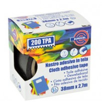 Nastro adesivo telato TPA nero 200 38mmx2,7mt Eurocel 016714314