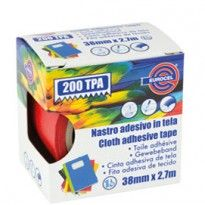 Nastro adesivo telato TPA rosso 200 38mmx2,7mt Eurocel 016214314